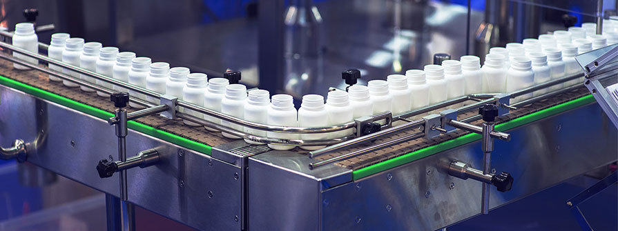 Processing pharmaceutical products in a factory