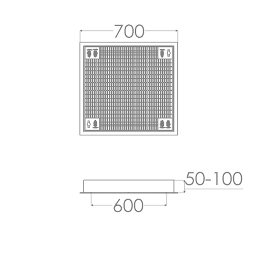 Line drawing of Kent's Solo Vent Grille