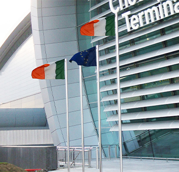 Kent's stainless steel flag poles at Dublin Airport