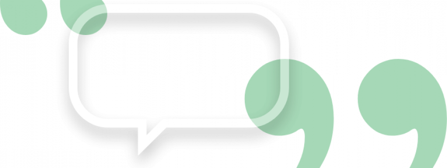 Chat bubble icon with quotes